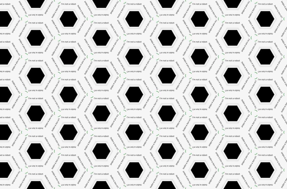 ReCaptcha I am not a robot pattern